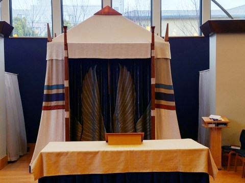 The ark at Congregation Netivot Shalom in Berkeley (Photo/Rabbi Menachem Creditor)