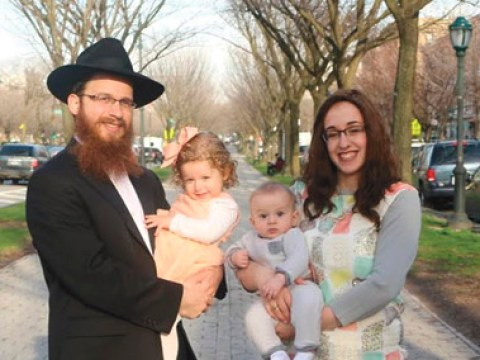 Rabbi Meir and Mushkie Shmotkin and their children set up shop in Alameda just last month.