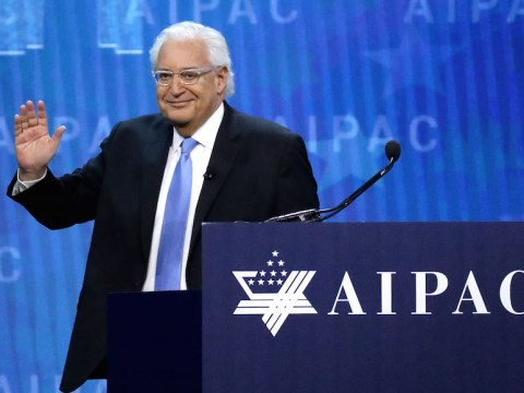 U.S. Ambassador to Israel David Friedman addressing the American Israel Public Affairs Committee's annual policy conference at the Washington Convention Center, March 6, 2018. (Photo/JTA-Chip Somodevilla-Getty Images)