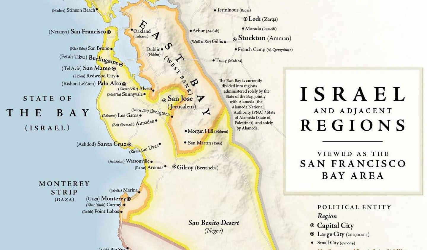 Israel/Bay Area cartographic mashup is fun, but sobering – J.