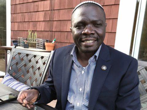 Rabbi Gershom Sizomu, member of the Ugandan parliament and first ordained rabbi of the Abayudaya Jewish community of Uganda, on a recent trip to Marin (Photo/Sue Fishkoff)