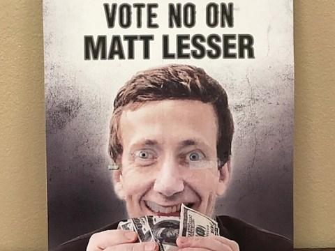 """ad reads: """"Vote No on Matt Lesser"""""""