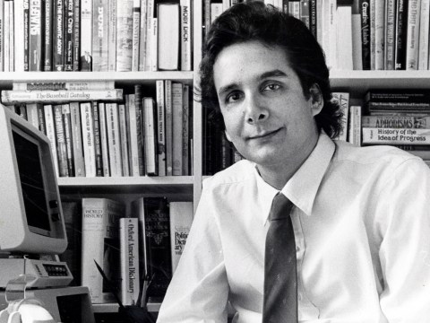 Charles Krauthammer in his office in Washington, D.C., March 16, 1985. (Photo/JTA-Ray Lustig-The Washington Post via Getty Images)