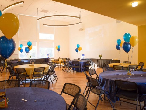 A bright, spacious room in UC Berkeley Hillel's newly remodeled building (Photo/Berkeley Hillel)