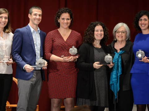 Rabbi Adina Allen of Jewish Studio Project (left) with other recipients of the Pomegranate Prize