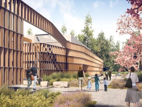 Rendering of Kol Emeth in Palo Alto (Illustration/Fields Architects)