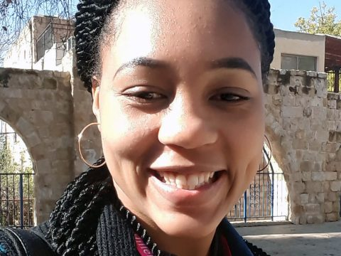 selfie of a young black woman in Israel