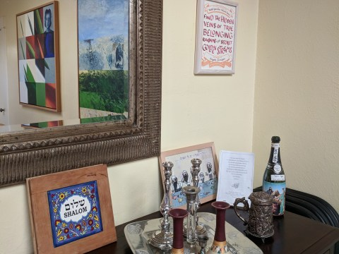 Christine Wong Yap's certificate on the wall at Rabbi Yonatan Cohen's house (Photo/Christine Wong Yap)
