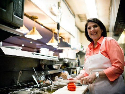 Debbie Shahvar in the Buttercup Diner kitchen