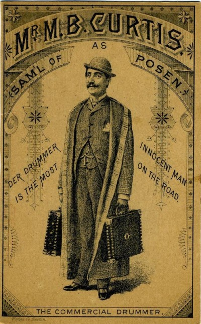 A poster advertising M. B. Curtis' character Sam'l of Posen