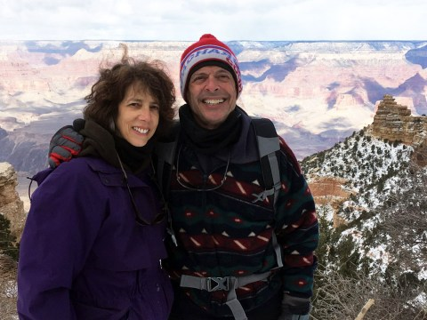 Rob and his wife Sharon hiking the Grand Canyon
