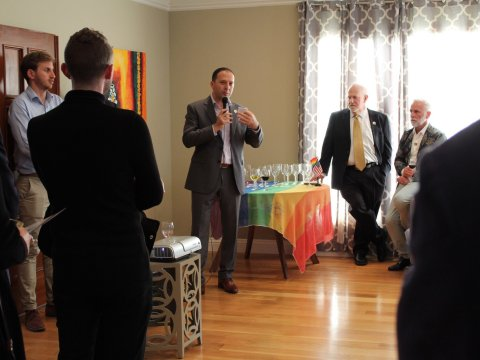 Shlomi Kofman, Israel's S.F.-based consul general, speaks at the June 5 event (Photo/Courtesy)
