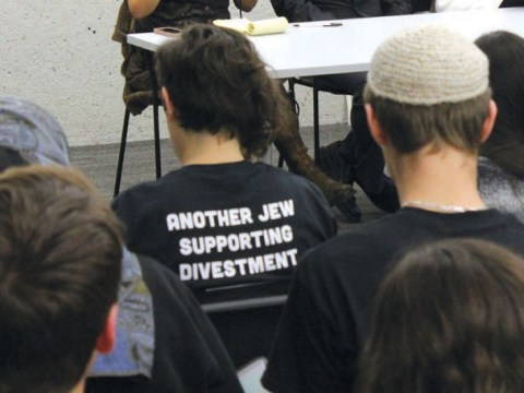 A panel at the Open Hillel conference at Harvard University in 2014. Open Hillel, a left-wing breakaway group, started during Eric Fingerhut's tenure as leader of Hillel International. (Photo/David A.M. Wilensky)