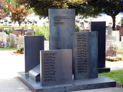 A new monument dedicated to 800 concentration camp victims in Steyr, Austria