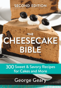 "cover of ""The Cheesecake Bible"" by George Geary"