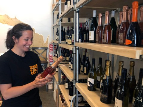 Rebecca Fineman at Ungrafter, her wine-focused restaurant in the Dogpatch neighborhood of San Francisco (Photo/Alix Wall)