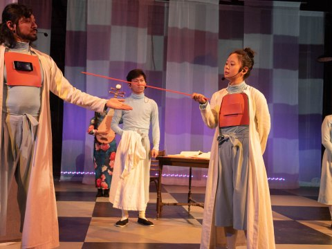 Freedman's play finds similarities between kung fu and Talmud study in the relationships between students and teachers. (Photo/Courtesy of Freedman)