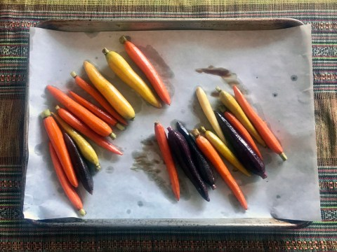 carrots on a pan