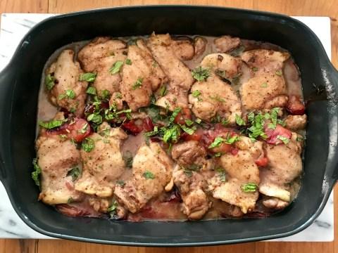 Honey-Plum Baked Chicken (Photo/Faith Kramer)