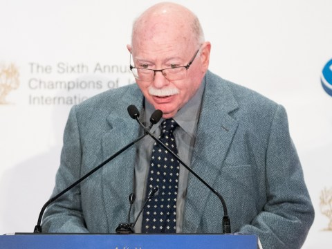 Michael Steinhardt speaks at the Champions of Jewish Values International Awards Gala in New York City, March 8, 2018. (Photo/JTA-Michael Brochstein-Getty Images)