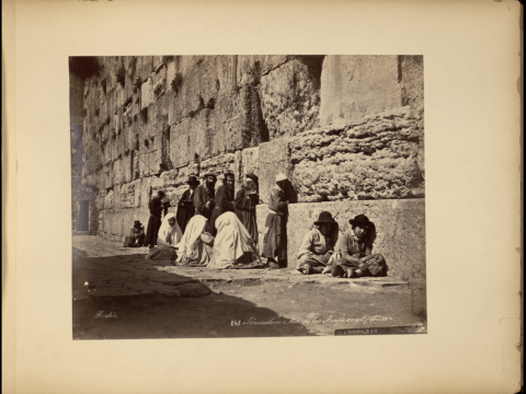Western Wall, 1880 (Photo/Felix Bonfils)