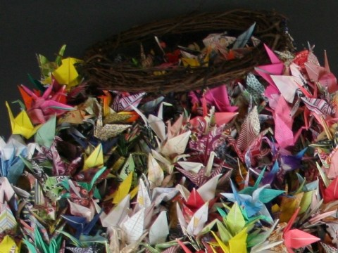 Origami cranes sent in memoriam of the Pittsburgh synagogue shooting. /Courtesy of the Tree of Life Congregation and Rauh Jewish History Program & Archives
