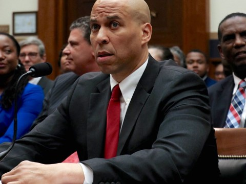 cory booker seated