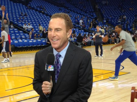 Dave Feldman at a Golden State Warriors game. /Courtesy JSHoF