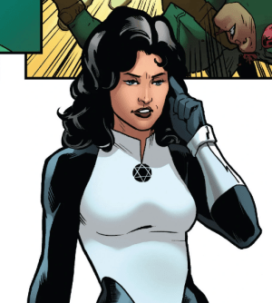 "Sabra in a panel from ""Captain America: Steve Rogers"" Vol. 1 #18"