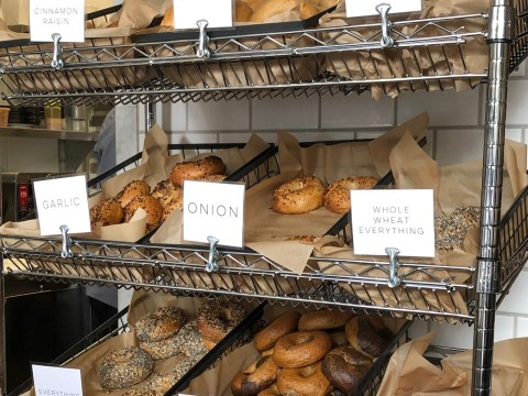 Some of the bagel varieties available at the Bagel Mill. /Alix Wall