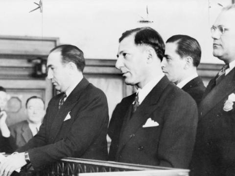 "Louis ""Lepke"" Buchalter at his sentencing in 1941. (U.S. Library of Congress)"