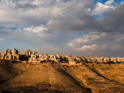 A view of the Maale Adumim settlement in the West Bank, Jan. 28, 2020. (JTA/Menahem Kahana/AFP via Getty Images)