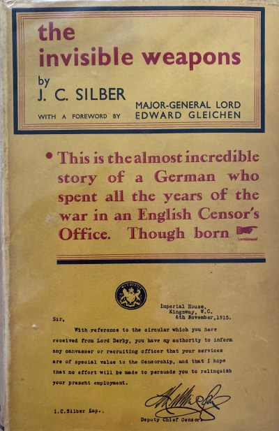 """The Invisible Weapons,"" Julius Silber's 1932 autobiography."