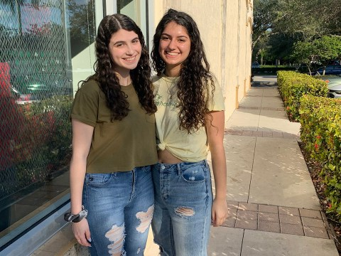 Zoey Fox-Snider, right, and her classmate Talia Rumsky say the 2018 shooting has defined their high school experience. (JTA/Josefin Dolsten)