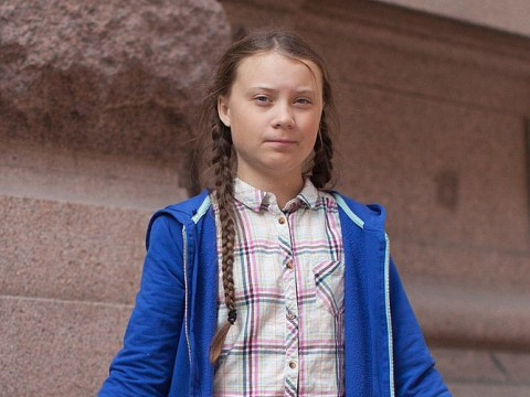 Greta Thunberg in front of the Swedish parliament in Stockholm, Aug. 2018. (Wikimedia-Anders Hellberg CC BY-SA 4.0)