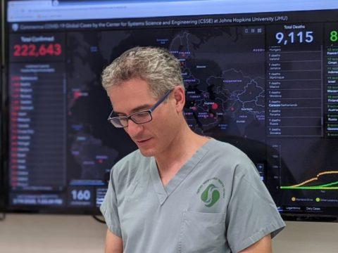 Dr. Elli Rosenberg, a clinical immunologist at Soroka Medical Center in Beersheva, Israel, is managing his hospital's medical response to the coronavirus. (JTA/COURTESY ROSENBERG)