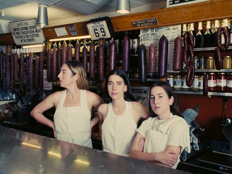 """From the cover of HAIM's new album, """"Women in Music Pt. III."""""""