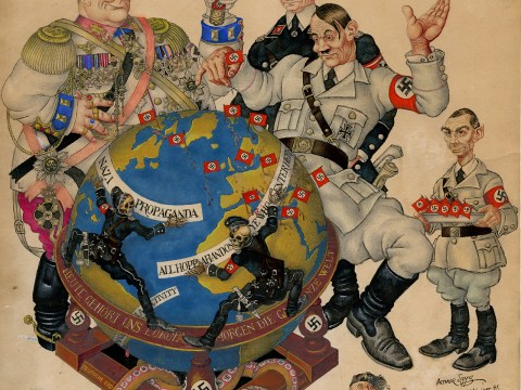 """Madness,"" New York, 1941 (ARTHUR SZYK/COURTESY THE MAGNES COLLECTION)"