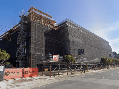 A new wing under construction at the San Francisco Campus for Jewish Living. (GOOGLE MAPS)