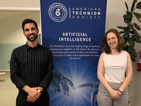 Technion students Shimon Sheiba (left) and Polina Bronov