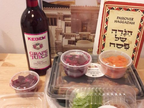 "Contents of a ""Seder in a Box"" distributed by Chabad. (LEWIS BADEN)"