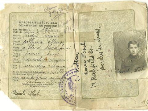 Mike Perlmutter's grandfather's Polish passport