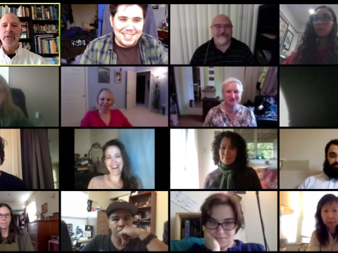 Part of the staff of J. The Jewish News of Northern California during a recent staff meeting on Zoom.