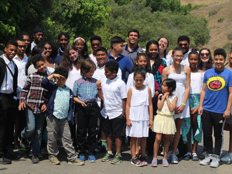 Campers at Camp Be'chol Lashon, a summer camp for young Jews of color. (Photo/Courtesy Be'chol Lashon)
