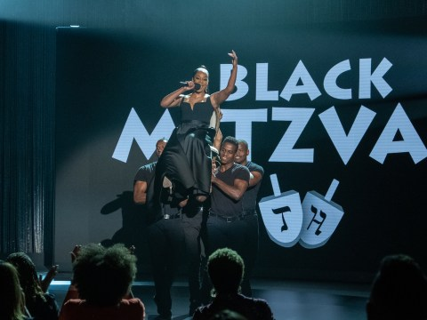 "Tiffany Haddish performs in her Netflix stand-up special ""Black Mitzvah."" (Photo/Netflix)"