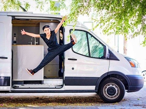 Hip-hop dancer Rebecca Fazio has been sheltering in a van in front of her childhood home in San Francisco. (Photo/Kyle Adler Photography)