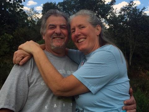 Jennifer Bird (right) with her husband, Ian Alper. (Courtesy Jennifer Bird)