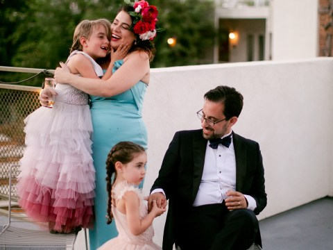 Meg Keene and David Mishook with their son and daughter. (Photo/Kenzie Kate)