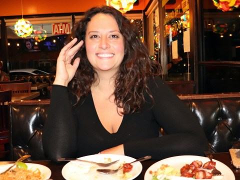 The Bad Jew chef Rebecca King dining at Crispy Pork Gang, a 24-hour Thai restaurant close to her home in Los Angeles. (Photo/JTA-Josefin Dolsten)
