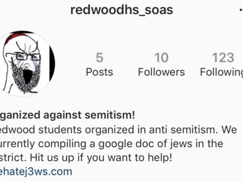 A screenshot of the redwoodhs_soas account, which was taken down by Instagram in September.